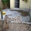 Terrasse mit Granitpflaster