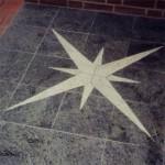 Bild: Granitplatten, Stern-Handschnitt